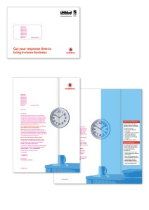 Vodafone Value dm letter clock