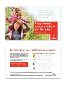 Vodafone various bill inserts4